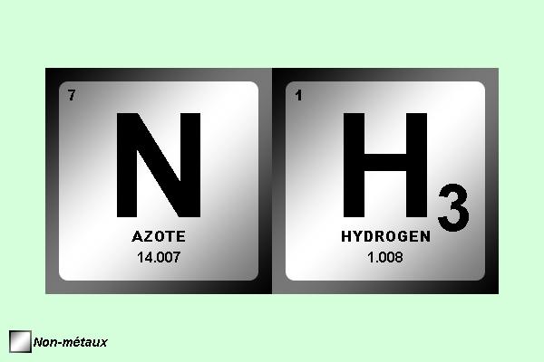 gaz ammoniac (NH3)